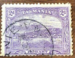 Australia-TASMANIA  2d Hobart Panorama Usato Fra.553 - 1853-1912 Tasmania