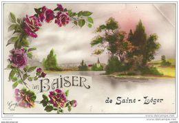 SAINT - LEGER ..-- Un Baiser De ......1925? Vers SAINT - MARD ( Mr Jean SAUSSUS ) . Voir Verso . - Saint-Léger