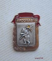 Broche (no Pin's)  - Armoiries De La Ville De IAROSLAV Russie - Ours, Hache - Música