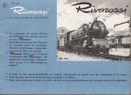 Catalogue RIVAROSSI 1962/63 TRIX Catalogue De Poche Brochure HO 1/87 - Libros Y Revistas