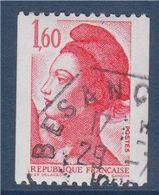 Type Liberté De Delacroix  1.60f  Rouge  Roulette 2192 Oblitérée - Roulettes