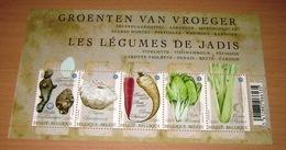 Blok 186** Groenten Van Vroeger- 4105/09** Les Légumes De Jadis Vitelotte, Topinambour, Pâtisson, Carotte Violette - Belgium