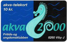 Denmark - Tele Danmark (chip) - Akva 2000 - TDP347 - 03.2000, 600ex, 10kr, Used - Danemark