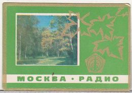 USSR Old 1976 Small Calendar - Radio Moskow - Calendars