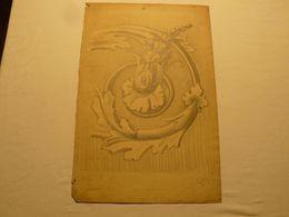 Dessin Au Crayon, Rosace. Signé Caillez. 1922. 57.5 X 27 Cm. - Dessins