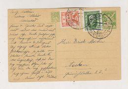 CZECHOSLOVAKIA 1925 MARIANSKE LAZNE Postal Stationery To Germany - Czechoslovakia