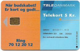 Denmark - Tele Danmark (chip) - Market Manager - TDP254 - 09.1998, 600ex, 5kr, Used - Danemark