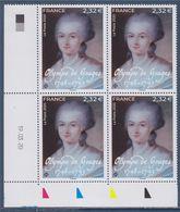 Olympe De Gouges Coin Daté 19.03.20 à 2.32€ Femme De Lettres Française, Devenue Femme Politique. - Esquina Con Fecha