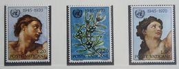 Adam And Eve, Olive, Tree, 25 Years UNO 1970 Mi 569-571 Yv 510-512 POSTFRIS / MNH / ** VATICANO VATICAN VATICAAN - Neufs