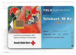 Denmark - Tele Danmark (chip) - Red Cross Christmas 1998 - TDP272 - 10.1998, 1.200ex, 10kr, NSB - Danemark