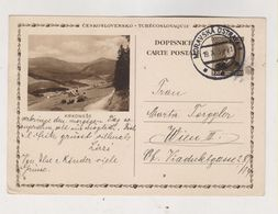 CZECHOSLOVAKIA 1934 MORAVSKA OSTRAVA Postal Stationery To Austria - Czechoslovakia