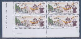 Dôle Coin Daté 03.02.20 TD201  à 0.97€ X4 Neufs Salon Philatélique De Printemps, Vue De La Ville - Esquina Con Fecha