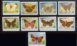 Cuba ** N° 5239 à 5247 - Papillons - Farfalle