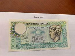 Italy Mercurio 500 Lire Uncirc. Banknote 1974 #5 - [ 2] 1946-… : Républic