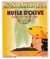 NICE - Etiquette Huile D'Olive SALADIA - Huileries  Ste Reparate. - Otros