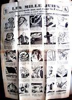ANTISEMITIME TRACT PLACARD ROYALISTE  TRES VIOLENT CONTRE LES JUIFS SOUS LE FRONT POPULAIRE 1936 JUDAICA - Documenti Storici