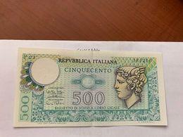 Italy Mercurio 500 Lire Uncirc. Banknote 1974 #6 - [ 2] 1946-… : Républic