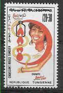 1993 TUNISIE 1204 ** Croissant Rouge, Don Du Sang - Tunisia