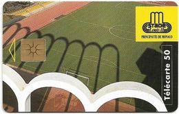 Monaco - MF37B - Stade Louis II - Gem1B Not Symmetr. White/Gold, 10.1995, 50Units, 53.000ex, Used - Monaco