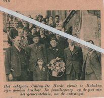 HOBOKEN..1938.. GOUD VOOR DE ECHTELINGEN CALLUY -  DE HERDT - Vieux Papiers