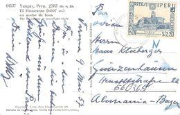 PERÚ - ANSICHTSKARTE 1957 - YUNGAY /ak436 - Peru