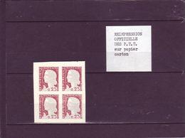 N° 1263 - 0,25 Marianne De DECARIS - Réimpression Officielle De La Poste Sur Papier Carton (je Pense En 1981) - 1960 Maríanne De Decaris