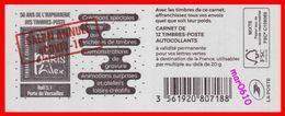 """Carnet Marianne L'Engagée - Paris Philex 2020 Surchargé """"SALON ANNULE #COVID-19"""" - Neuf** Non Plié - Markenheftchen"""