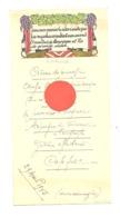 Menu Avec Charade - 29 Avril 1945 - Vin, Bourgogne, Pommard - Menus