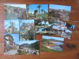 Lot De 10 Cartes  D'Espagne - Cartes Postales