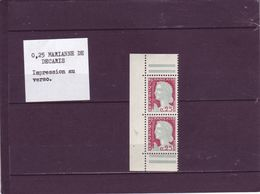 N° 1263 - 0,25 Marianne De DECARIS - Impression Au Verso - 1960 Maríanne De Decaris