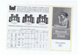 ZEISS - BINOCOLI / CANNOCCHIALI / SPYGLASS - DA CAMPAGNA E DA TEATRO - DEPLIANT 1910s - Publicités