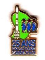 Pin's Ariane  25 Ans En Guyanne Sodexho Zamac Tosca - Space