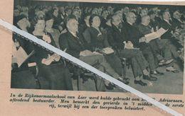 LIER..1937..HULDE AAN AFTREDEND BESTUURDER RIJKSNORMAALSCHOOL R.ADRIAENSEN - Vieux Papiers