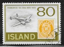 Iceland Scott #453 Used Stamp On Stamp, 1973 - 1944-... Repubblica