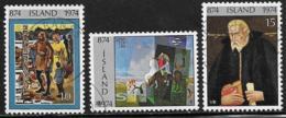 Iceland Scott #461-3 Used Settlement Of Iceland Anniv., 1974 - 1944-... Repubblica