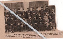 DEURNE-ZUID..1932.. CONSTANT PEETERS GEHULDIGD 25 JARIG LID VAN DE VRIJWILLIGE BRANDWEER - Vieux Papiers
