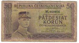 Czechoslovakia 50 Korun 1945 Specimen .J2. - Czechoslovakia