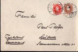 !  Brief Aus Dänemark, Denmark, Danmark, N. Lübeck, Schiff - 1913-47 (Christian X)