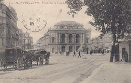 34 - Montpellier - Place De La Comédie  - Sublime Animation - ( Attelages ) - Montpellier