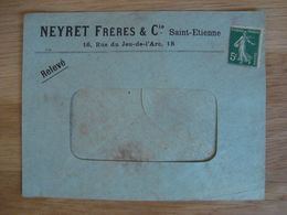 ENVELOPPE NEYRET FRERES & Cie SAINT-ETIENNE - Marcofilia (sobres)