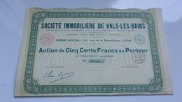 IMMOBILIERE DE VALS LES BAINS (1927) - Acciones & Títulos