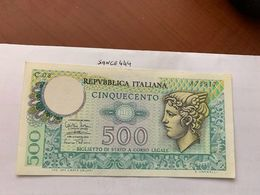 Italy Mercurio 500 Lire Uncirc. Banknote 1974 #9 - [ 2] 1946-… : Républic