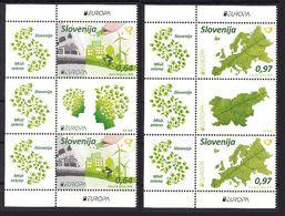Slovenie Slovenia Europa 2016 ** Think Green  Velo Bicycle - Paire Verticale Avec Vignette Centrale - Europa-CEPT
