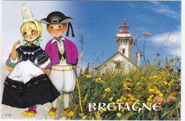 CARTE BRODEE:  BRETAGNE, Le  Phare - Bordados