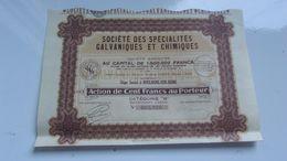 SPECIALITES GALVANIQUES ET CHIMIQUES (boulogne Sur Seine) - Actions & Titres