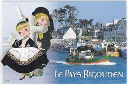CARTE BRODEE:  BRETAGNE, Le Pays Bigouden - Bordados