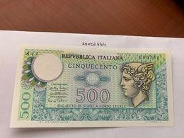 Italy Mercurio 500 Lire Uncirc. Banknote 1974 #10 - [ 2] 1946-… : Républic