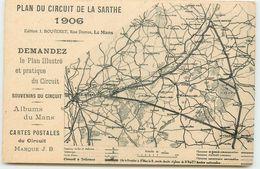 DEP 72 CIRCUIT DE LA SARTHE CARTE DU CIRCUIT DE 1906 - Autres