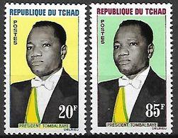 TCHAD.   1963.   Y&T N°84 / 85  **.    Président Tombalbaye. - Tschad (1960-...)