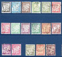 "1881/93 France Taxe ""type Duval"" N°10,28,29,30,31/a,33/a,35,36,37/a,38,40/A,42/A    2,50 € (cote 29,60 €, 17 Valeurs) - Postage Due"